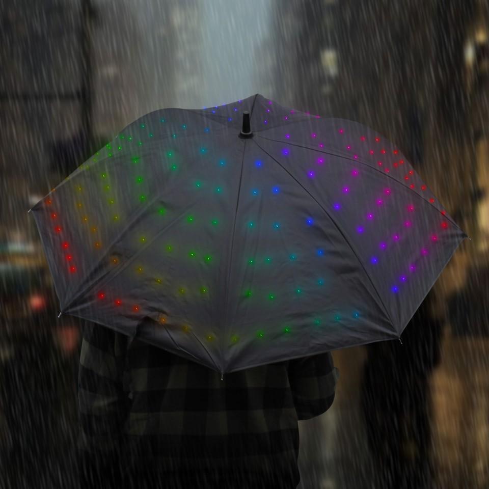 Colour change mode Light Up Starry Umbrella - Multi