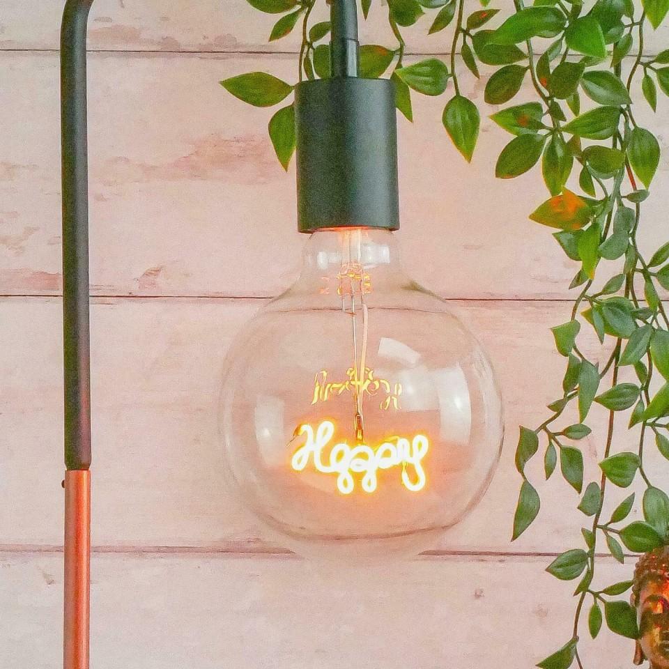 Happy LED Filament Bulb