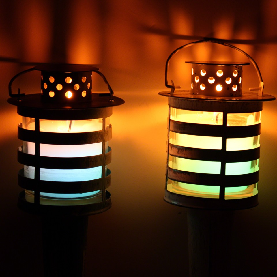 LED Metal Citronella Torch (Single)