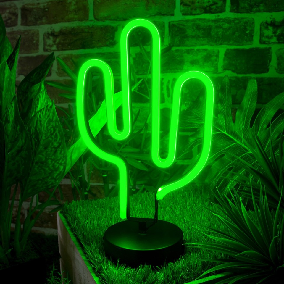 Cactus LED Neon Table Light
