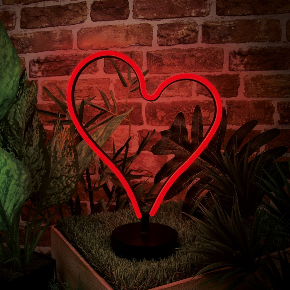 Heart LED Neon Table Light