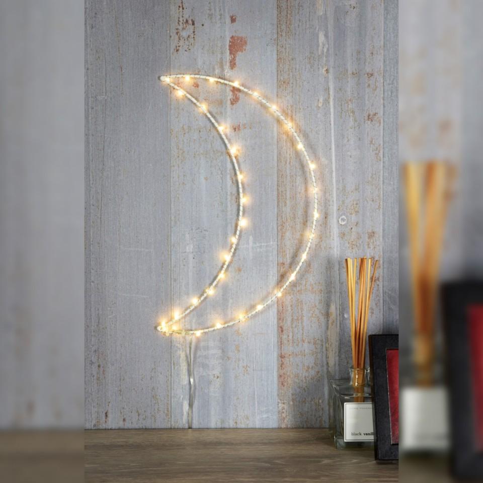 LED Silhouette White Moon Wall Light