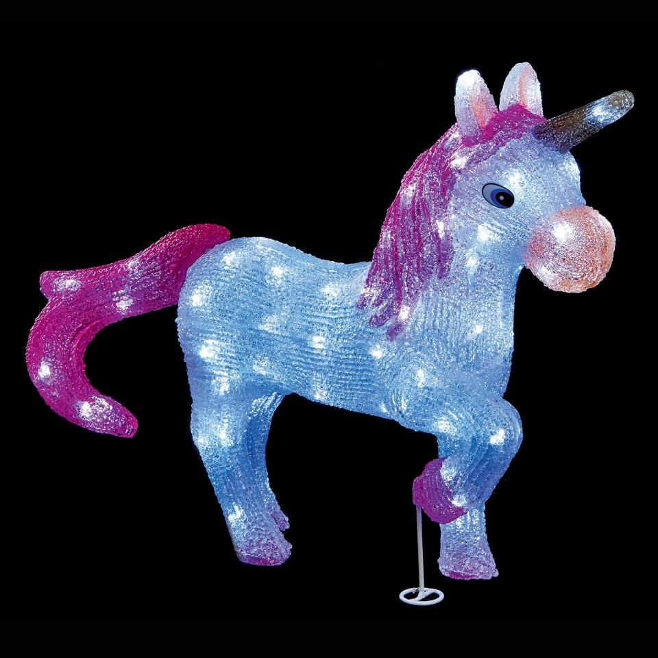 55cm LED Acrylic Unicorn