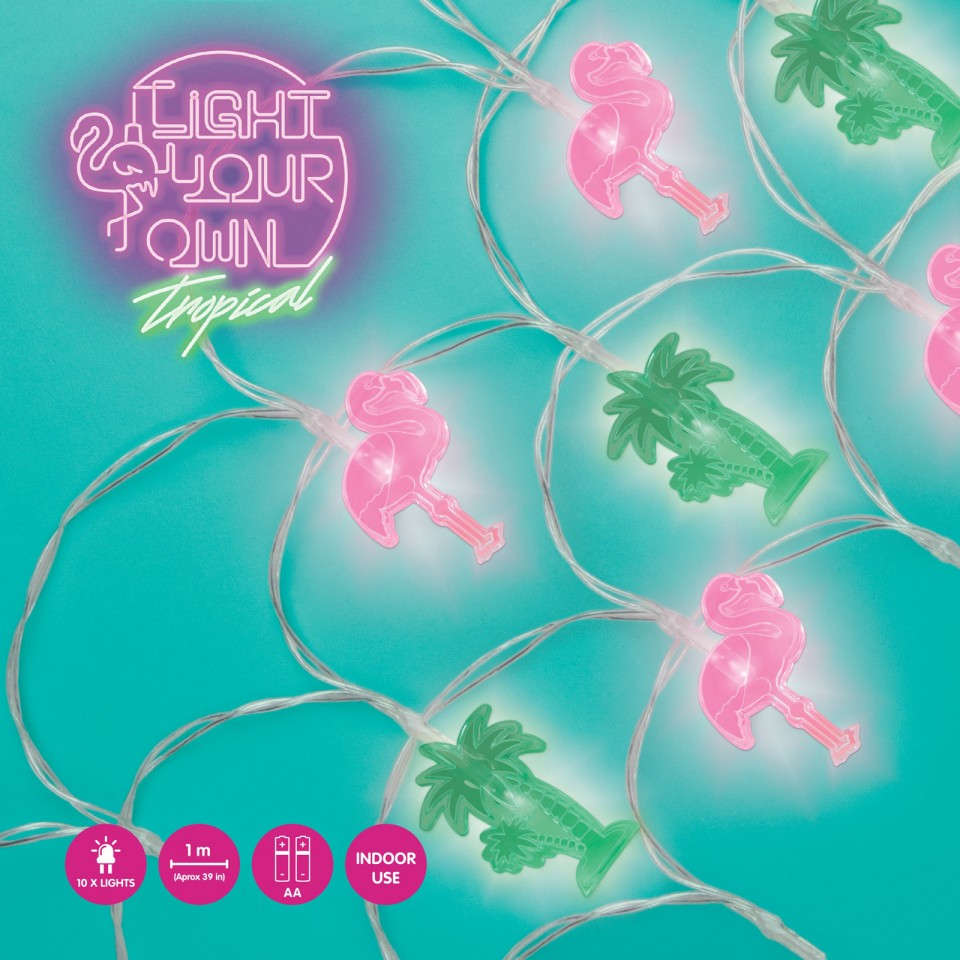 Light Your Own Tropical Fairy Lights