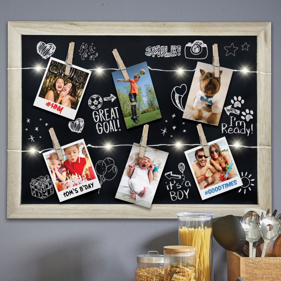 Light Up Photo Clip Chalk Board
