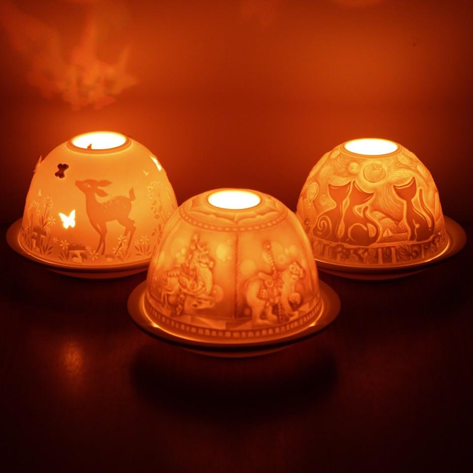 Lithophane Dome Tealight Holders