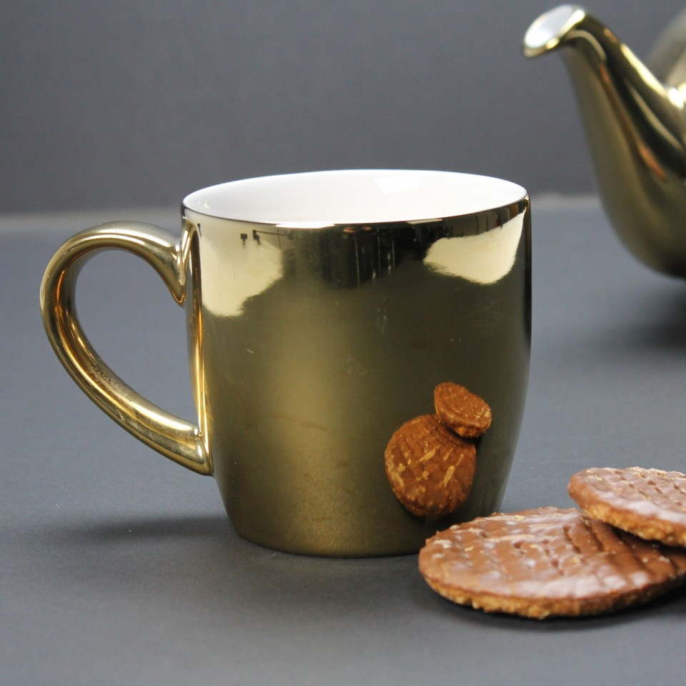 Gold Globe Mug by London Pottery