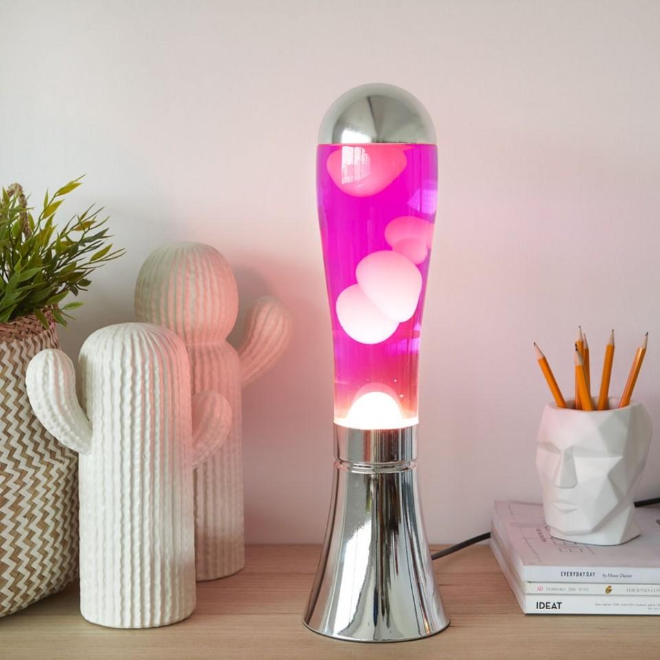 Magma Lava Lamp Silver/Pink