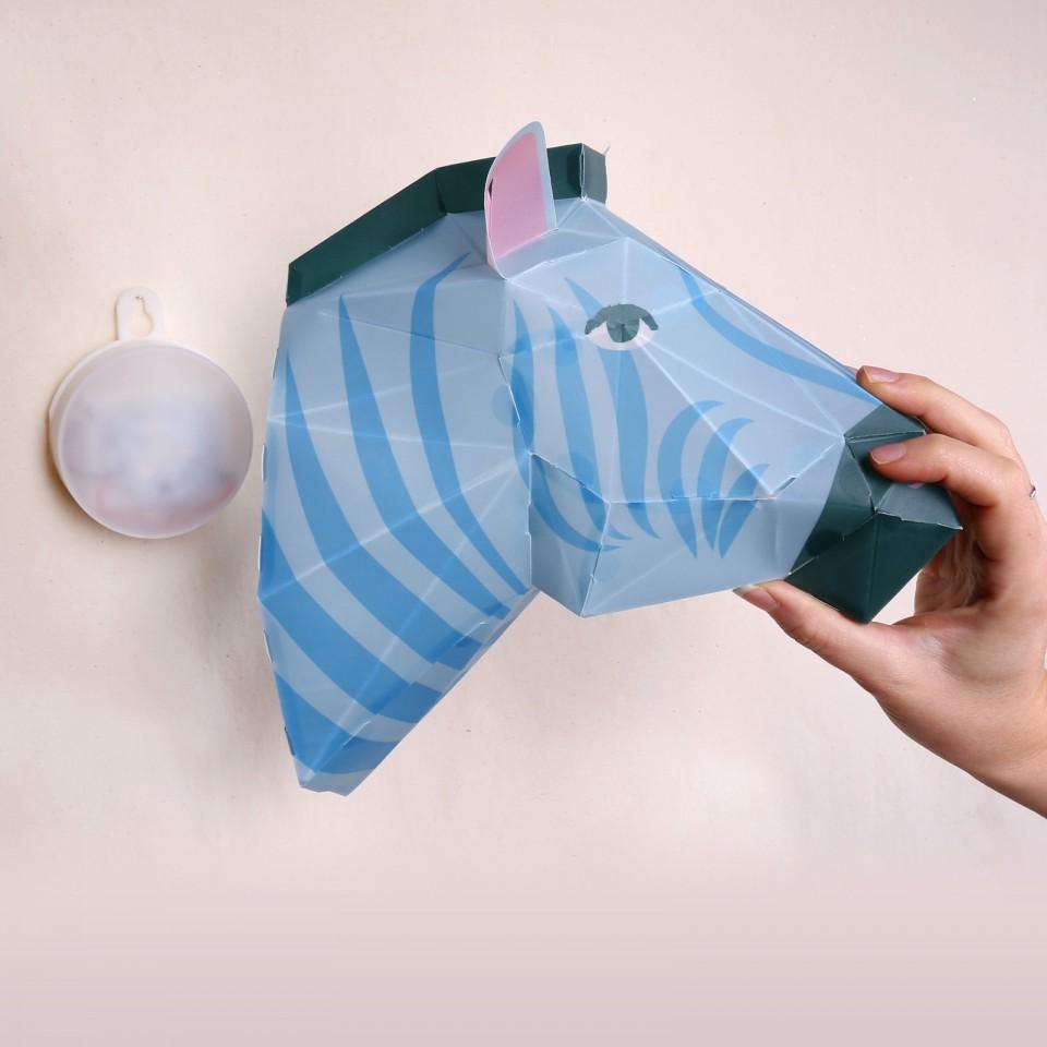 Make Your Own Zebra Head Paper Light