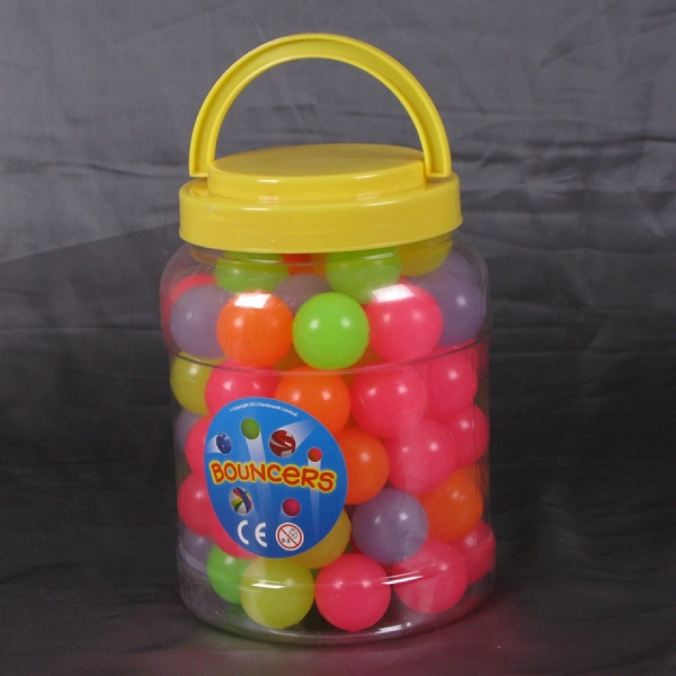 Mega Tub of 72 Glow Bouncy Balls