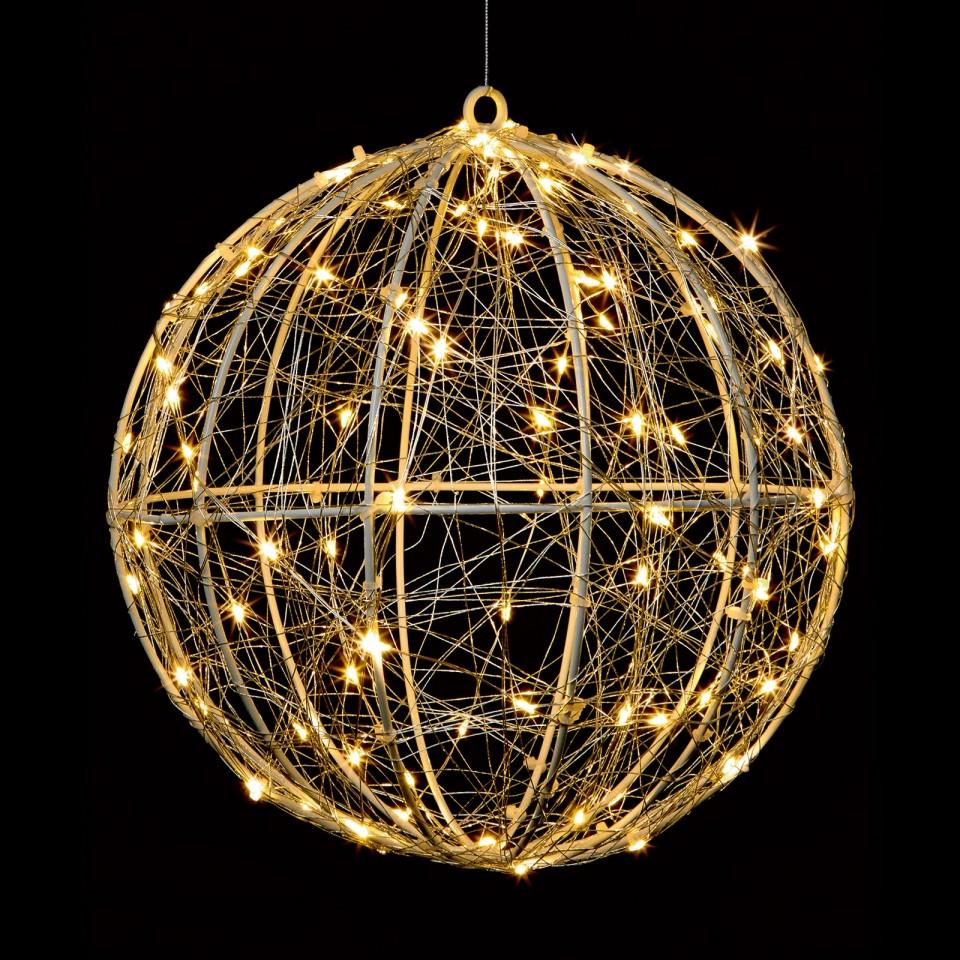 Microbrights Metal Ball 96 LED Decoration