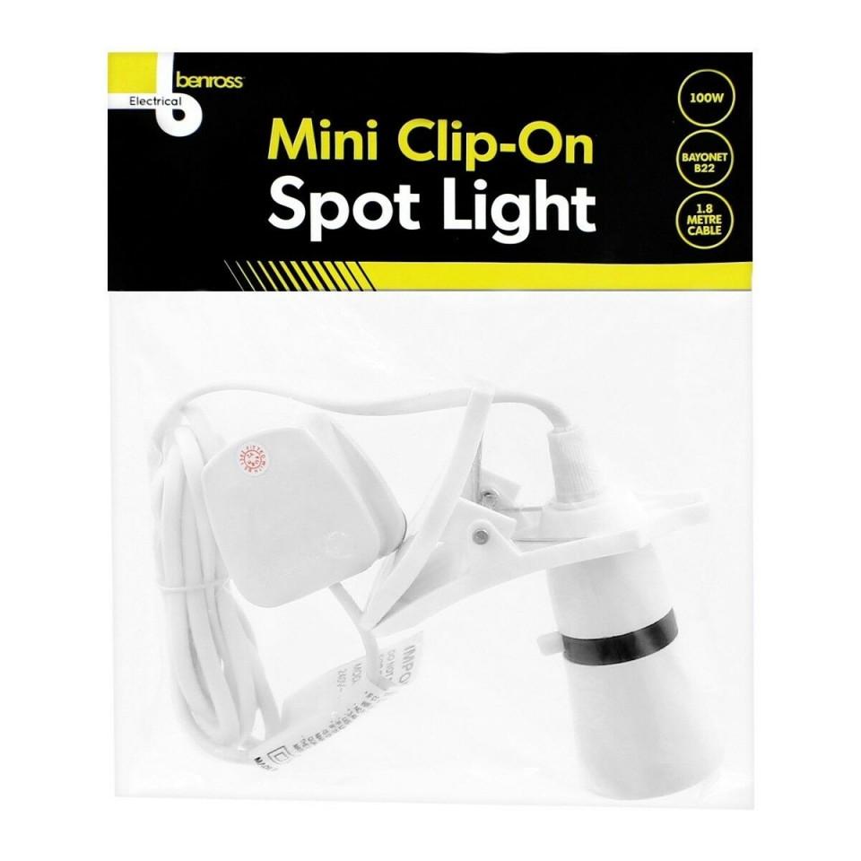 Mini Clip On Spotlight B22 Fitting