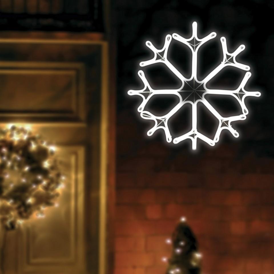 Neon LED Snowflake