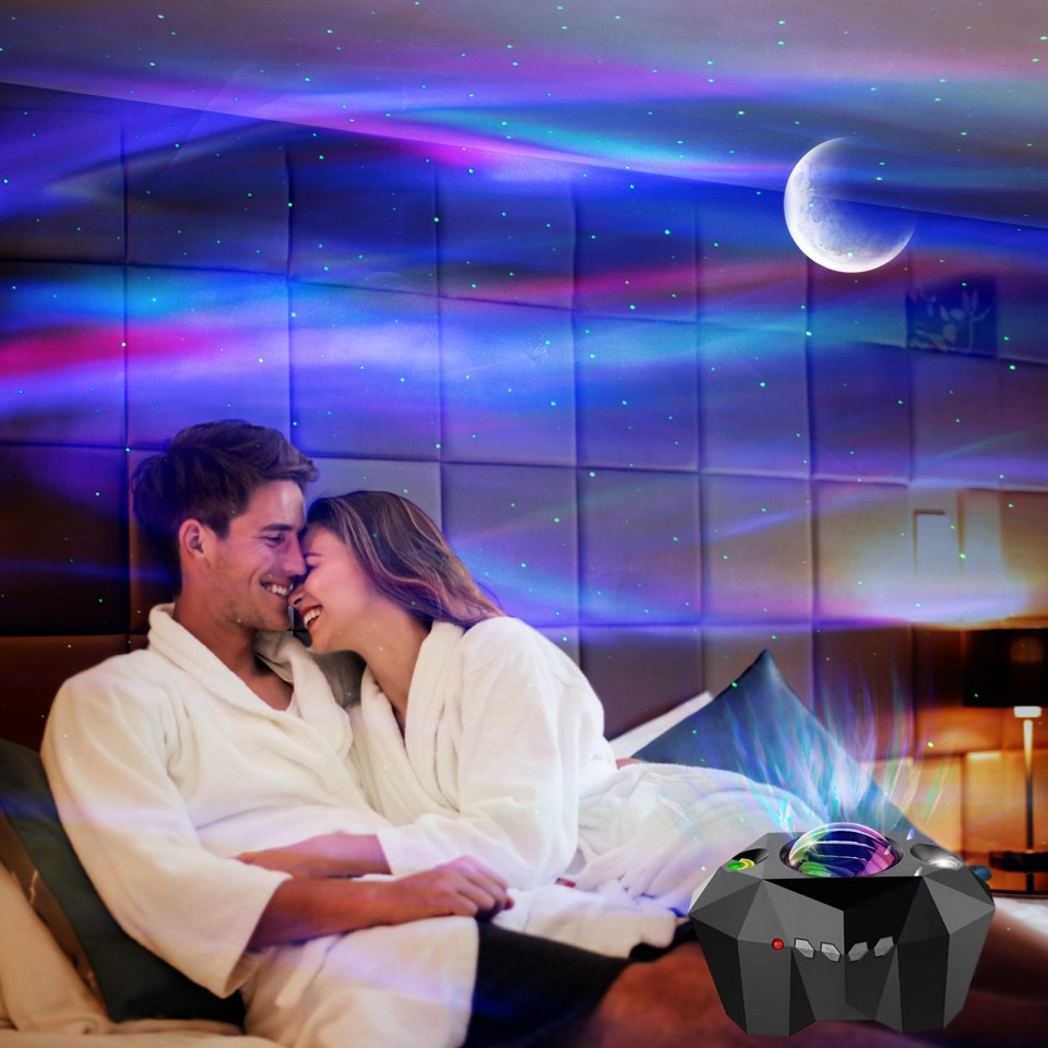 Northern Lights Aurora Moon & Star Projector and Speaker