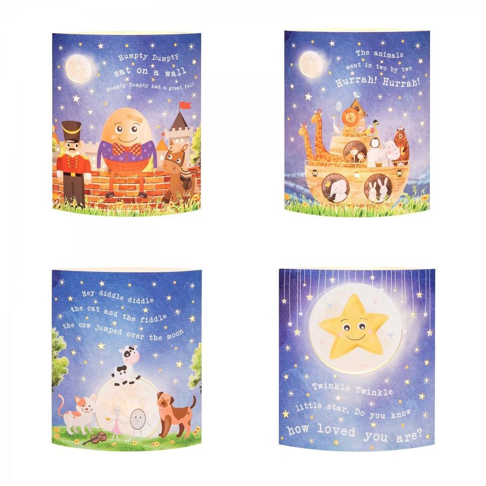 Nursery Rhyme Starlight LED Lantern