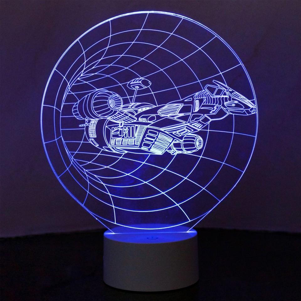Optical Illusion 3D Spaceship Lamp