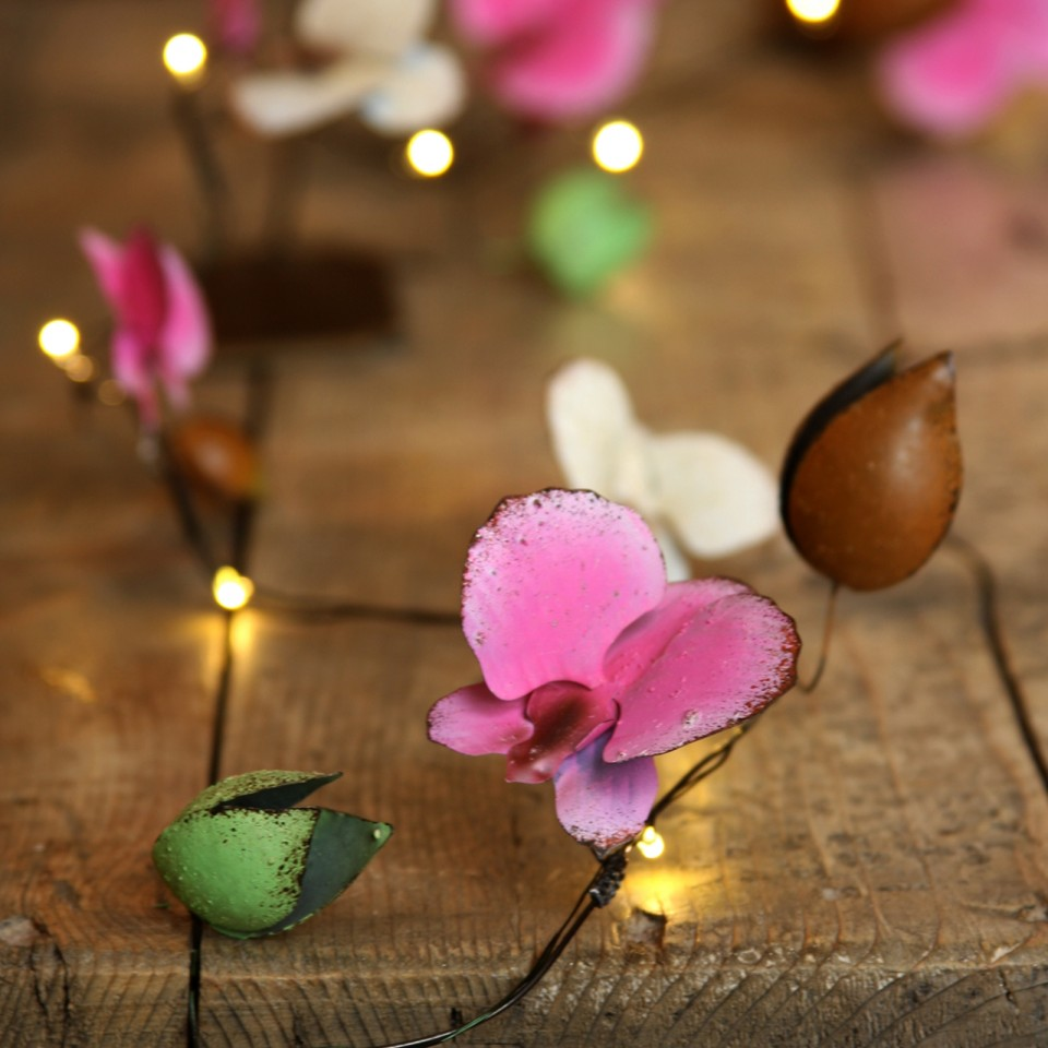 Orchid Metal Floral Fairy Lights
