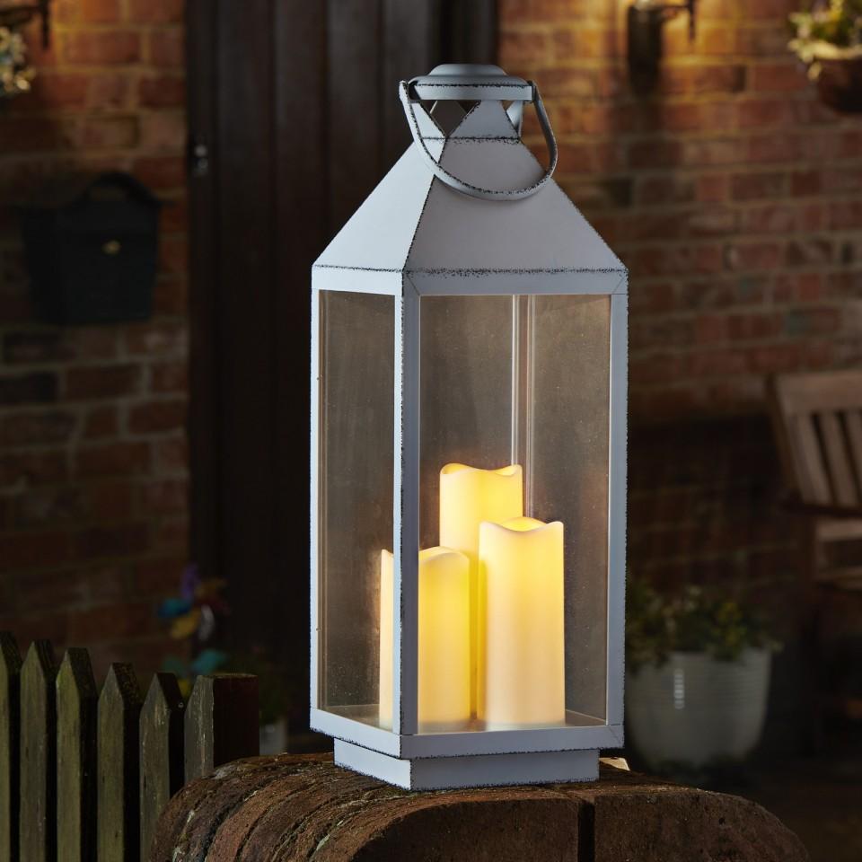 Oslo Cream Battery Operated Lantern
