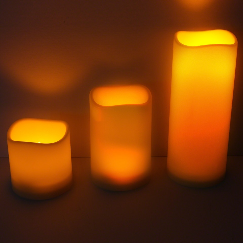Outdoor LED Flameless Candle