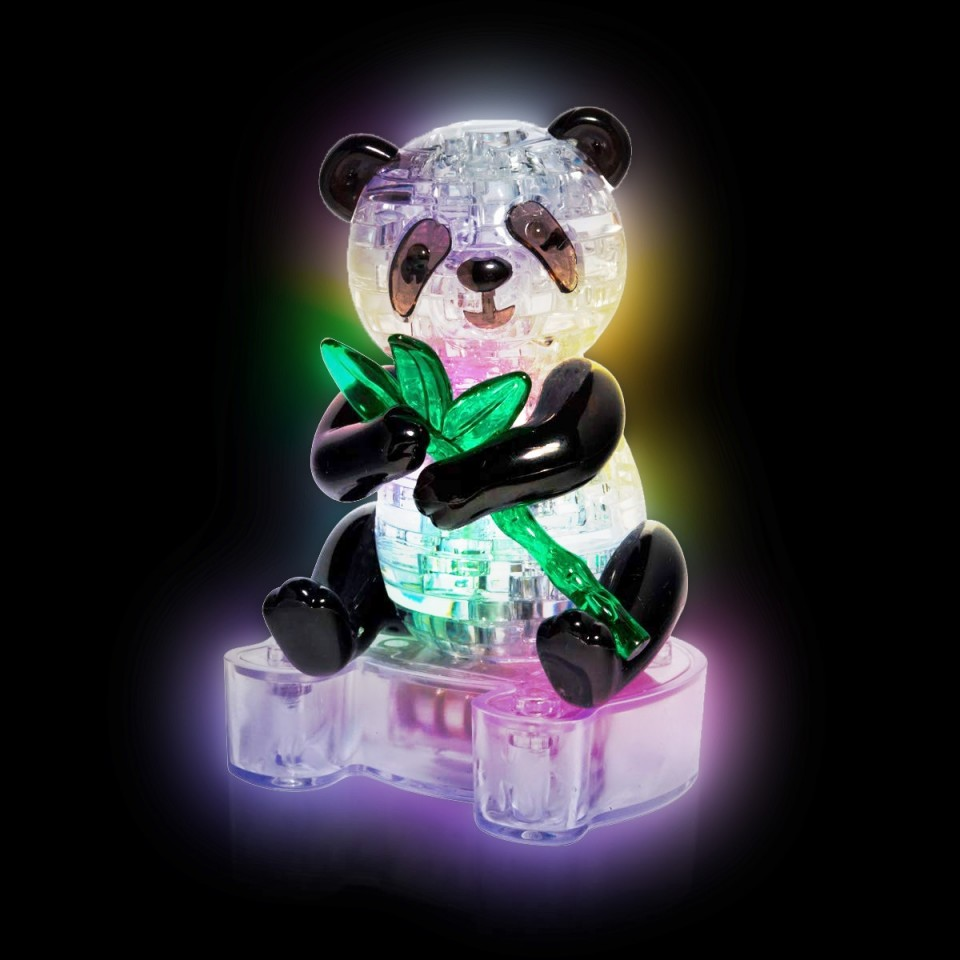 3D Panda Puzzle with LED Base
