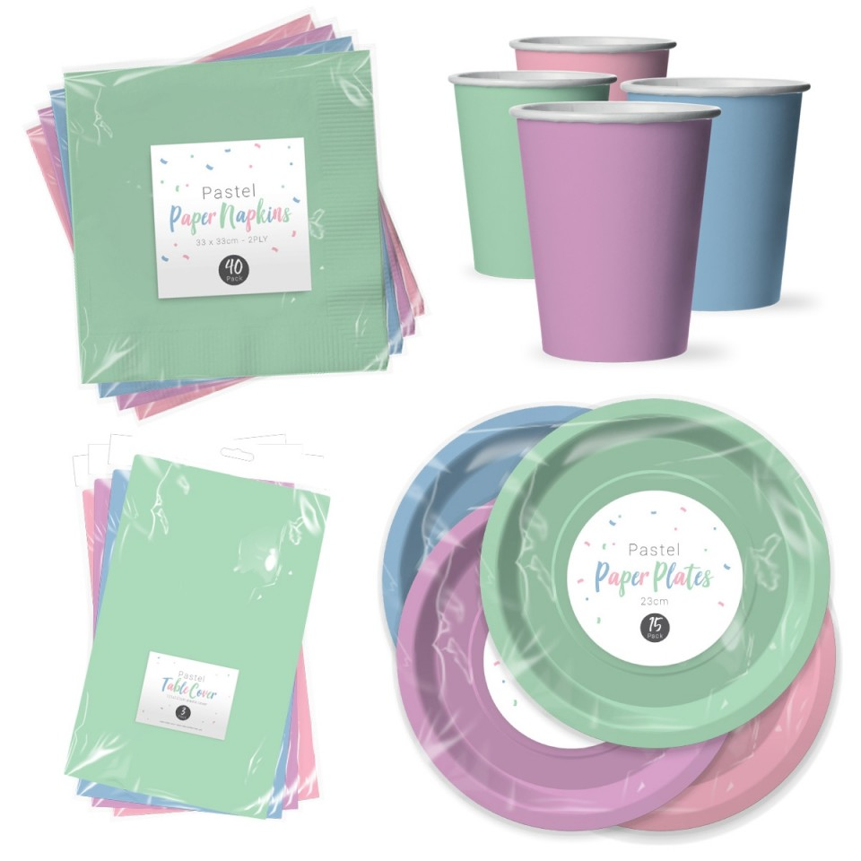 Pastel Paper Tableware Pastel Paper Tableware