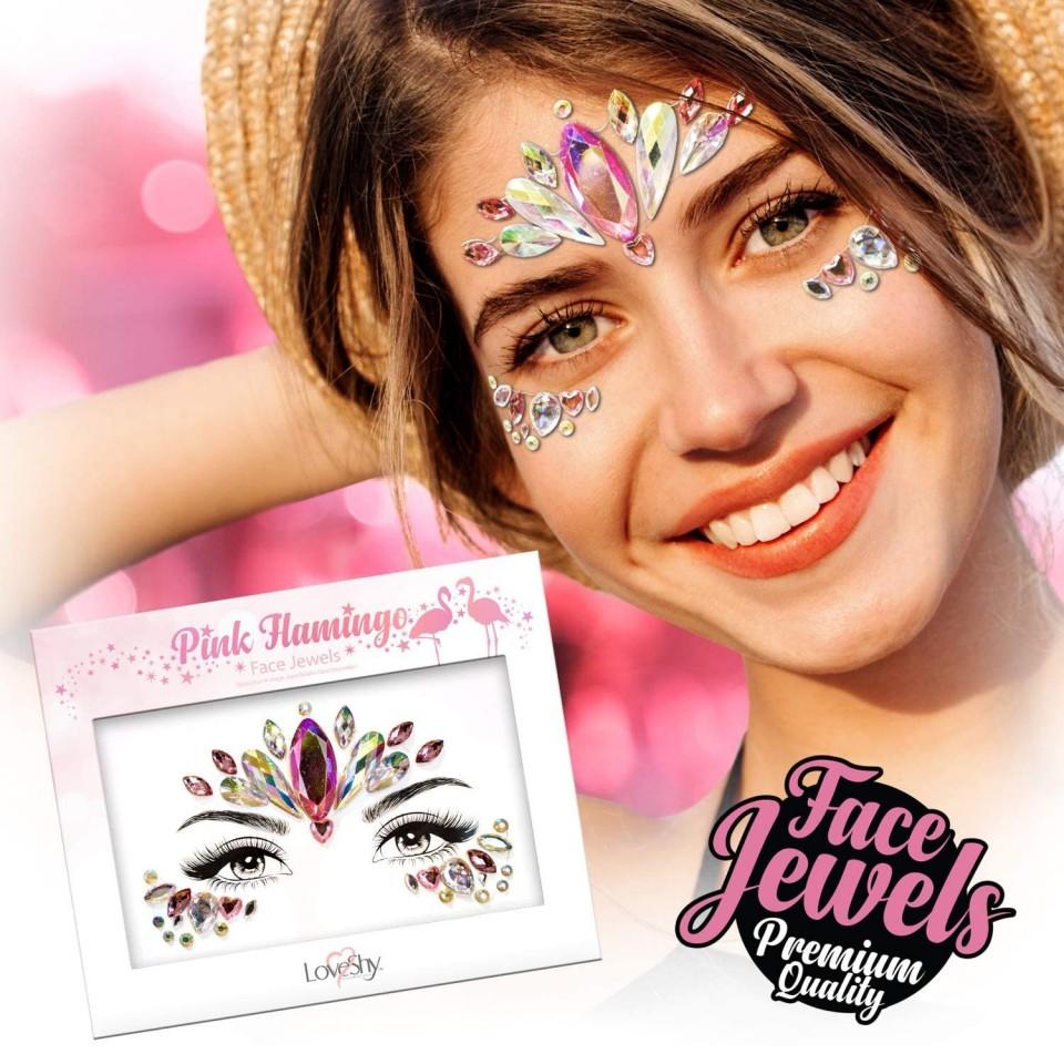 Flamingo Face Jewels