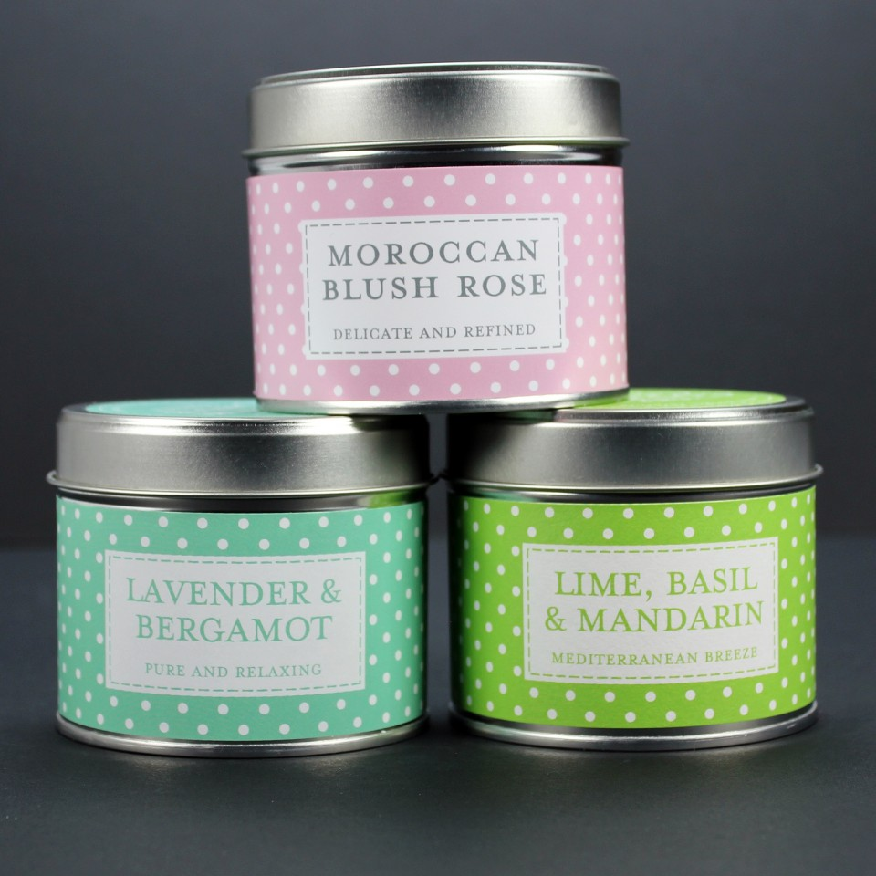 Polkadot Scented Candle Tins