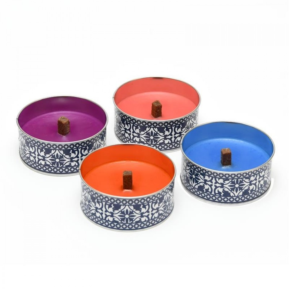 Single candle supplied Portuguese Garden Candle Tin