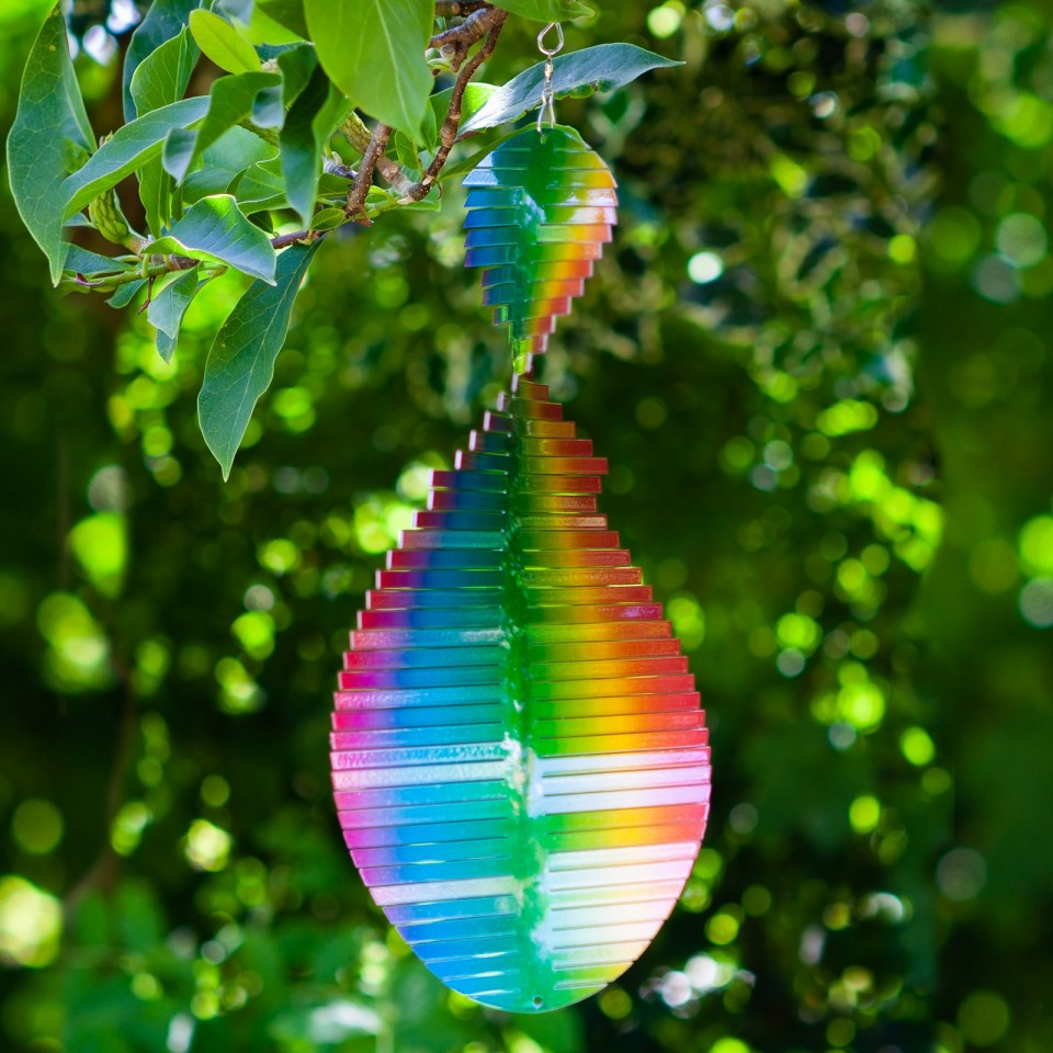 Rainbow Wave Wind Spinner