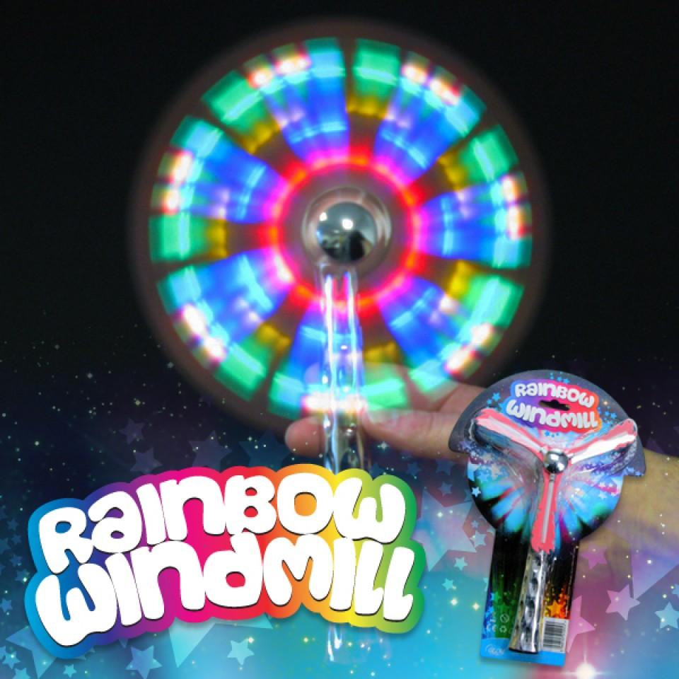 Flashing Rainbow Windmill Wholesale
