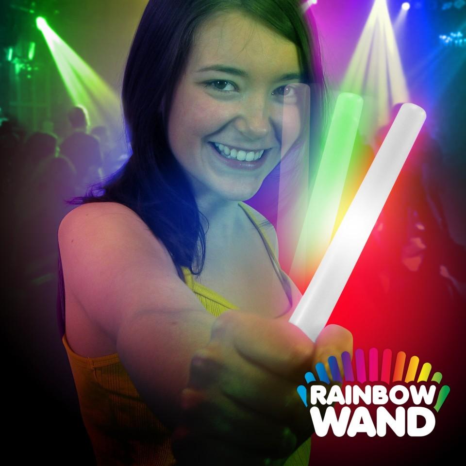 LED Battery Glow Stick -  Rainbow Wand
