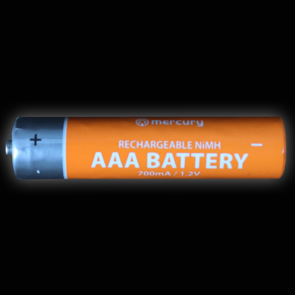 Individual Rechargeable 700mA NiMH AAA Battery
