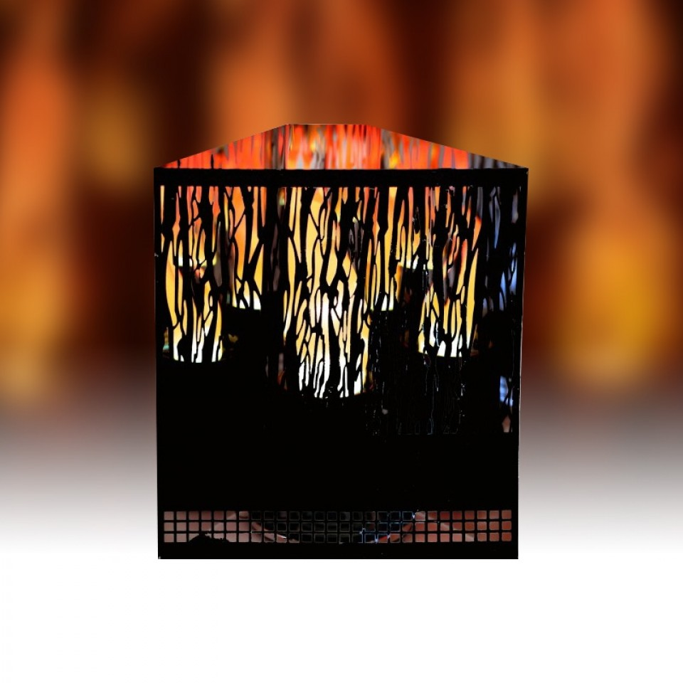 Red Led Vine Firebox - Flame Effect for Unused Fire Place