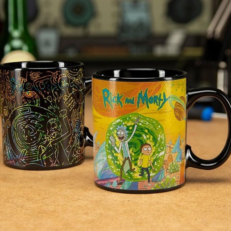 Rick and Morty Portal Heat Change Mug