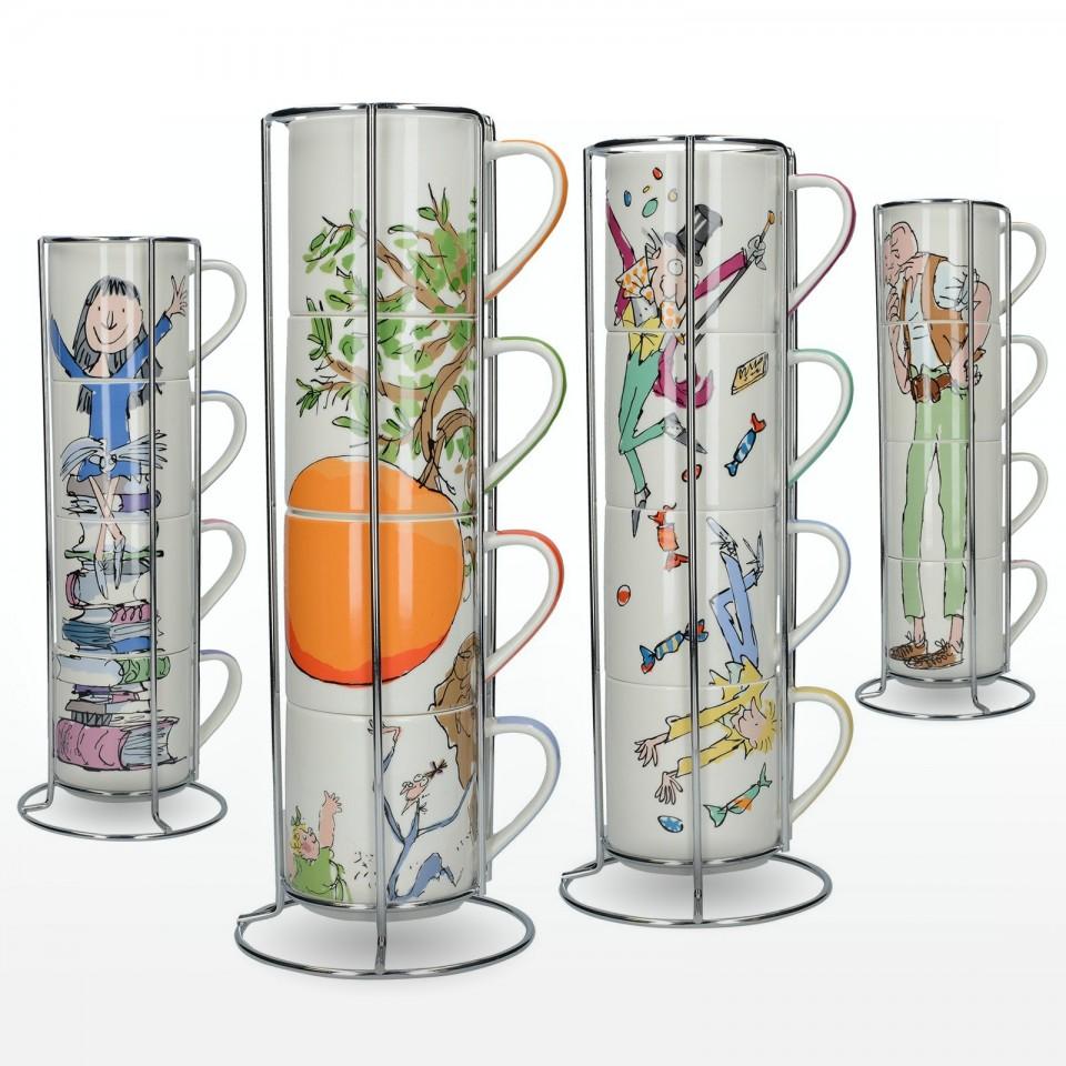 Roald Dahl Fine China Stacking Mug Sets