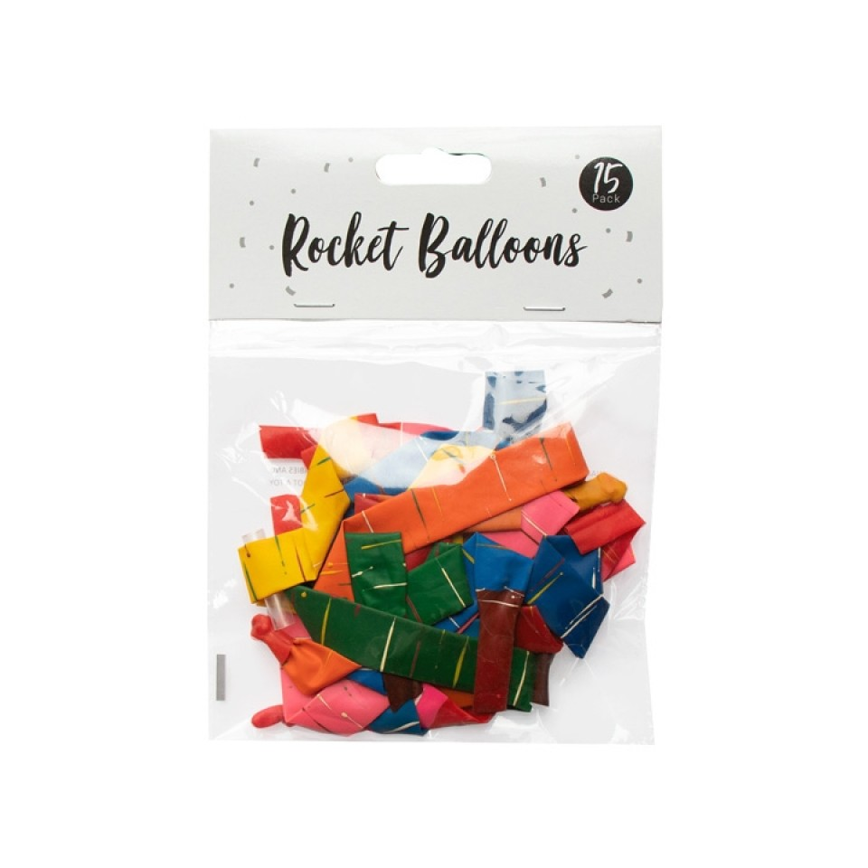 Rocket Balloons 15 Pack