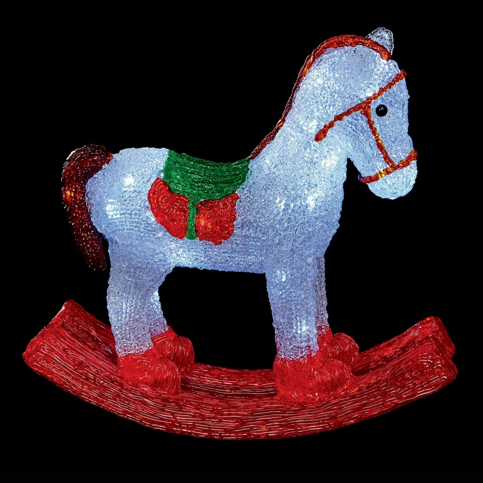 45cm Acrylic LED Rocking Horse