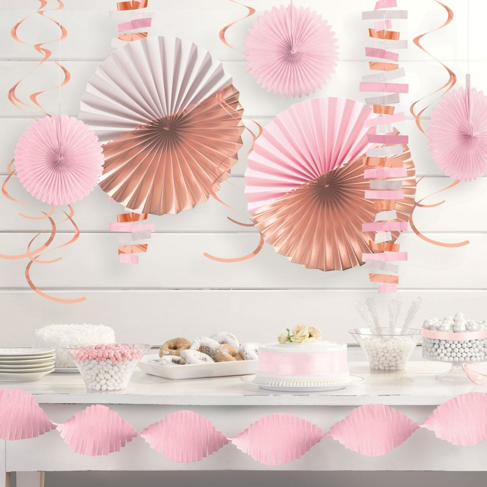 Room Party Decoration Kit - Rose Gold Blush