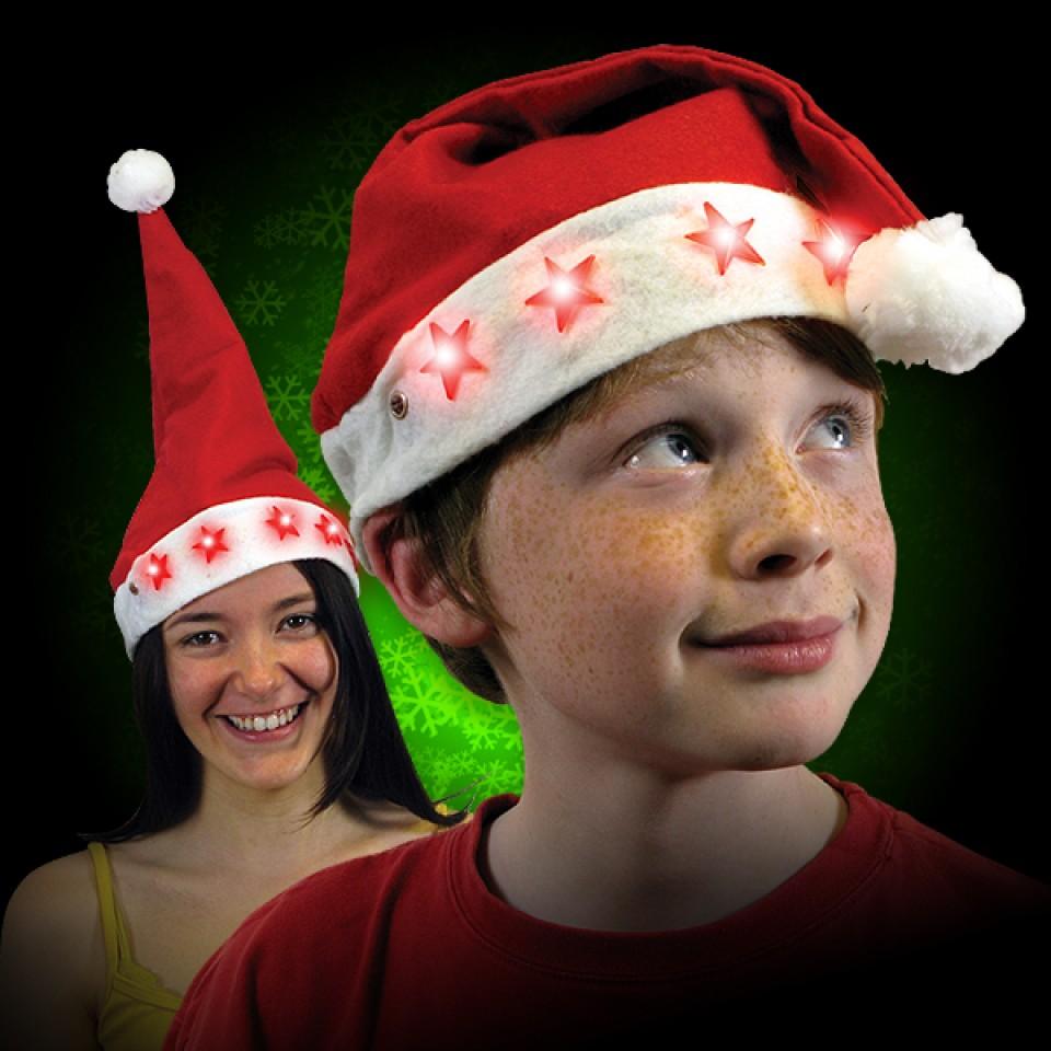 Flashing Santa Hats
