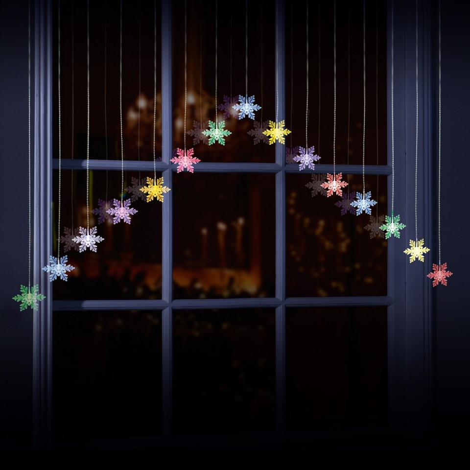Snowflake Curtain Lights