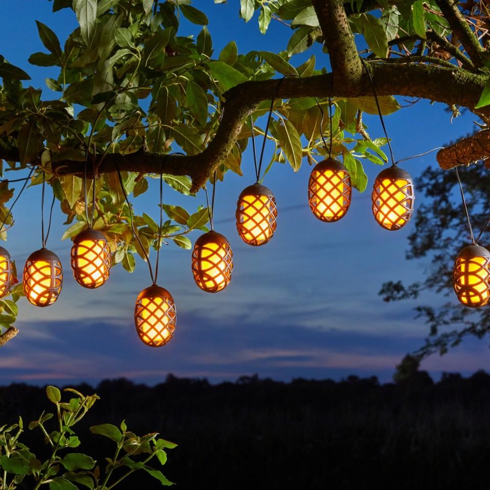 Solar Cool Flickering Flame String Lights