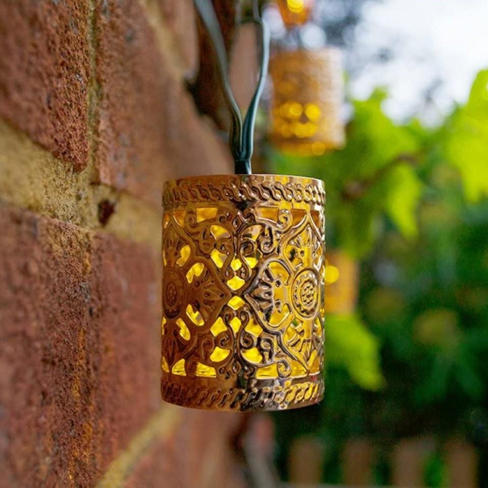 Solar Elan Scroll Lantern Fairy Lights