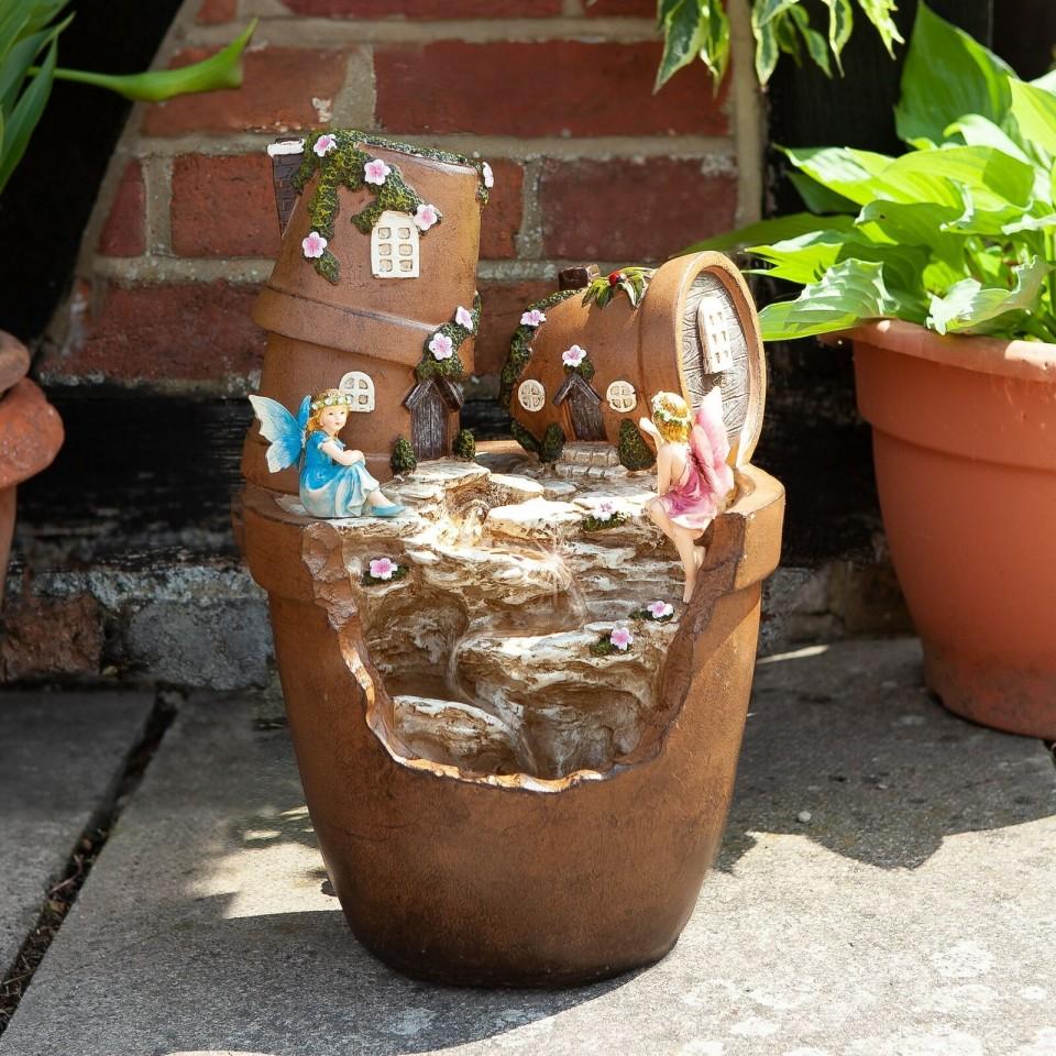 Solar Fairy Pot Fountain