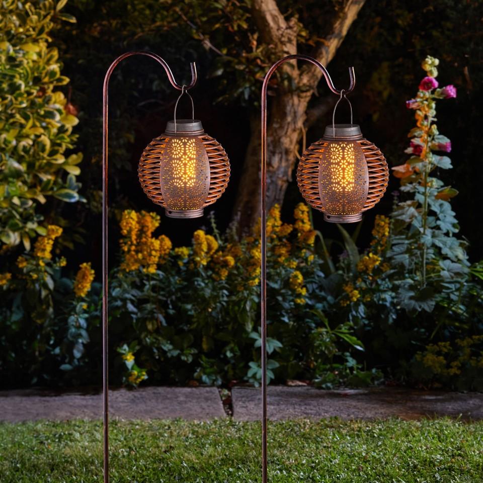 Solar Forli Flaming Lanterns (2 pack)