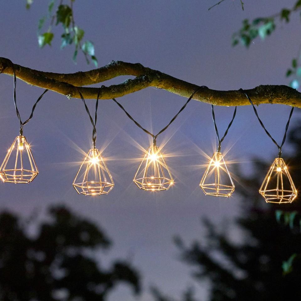 Solar Geo String Lights