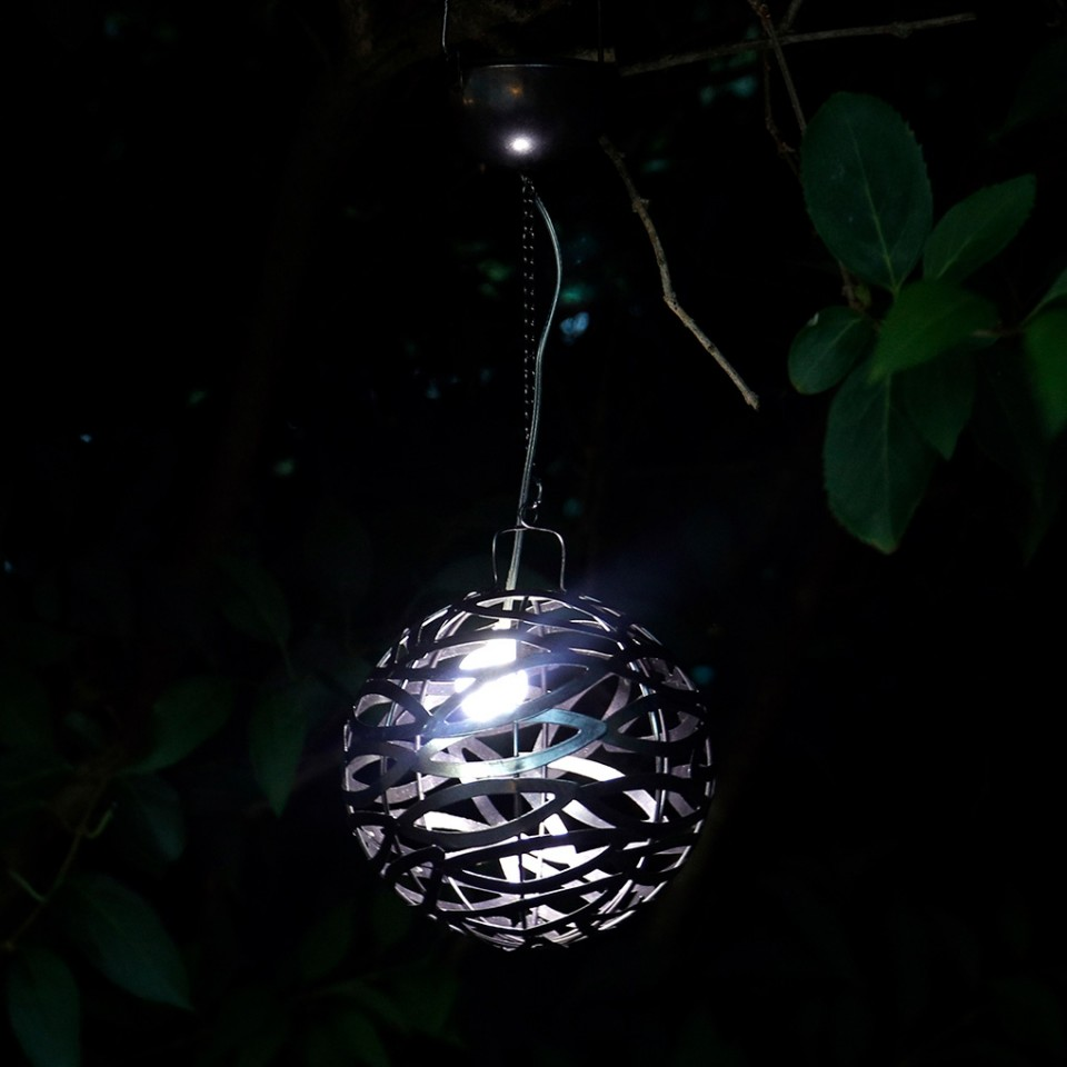 Pewter Solar Infinity Hanging Light