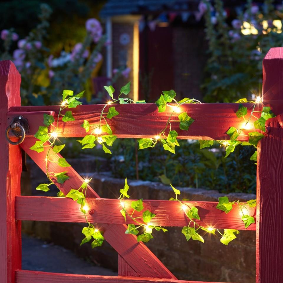Solar Ivy Firefly String Lights