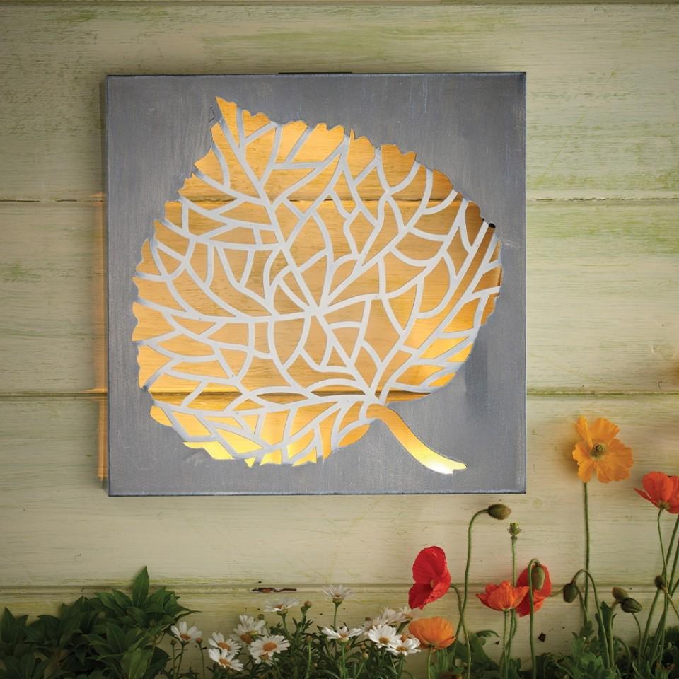 Solar Wall Art - Leaf by Eden Bloom