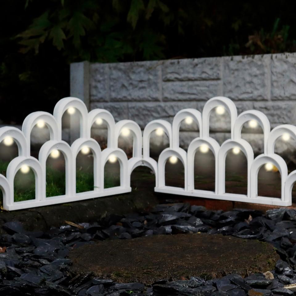 Solar LED Garden Fence Border