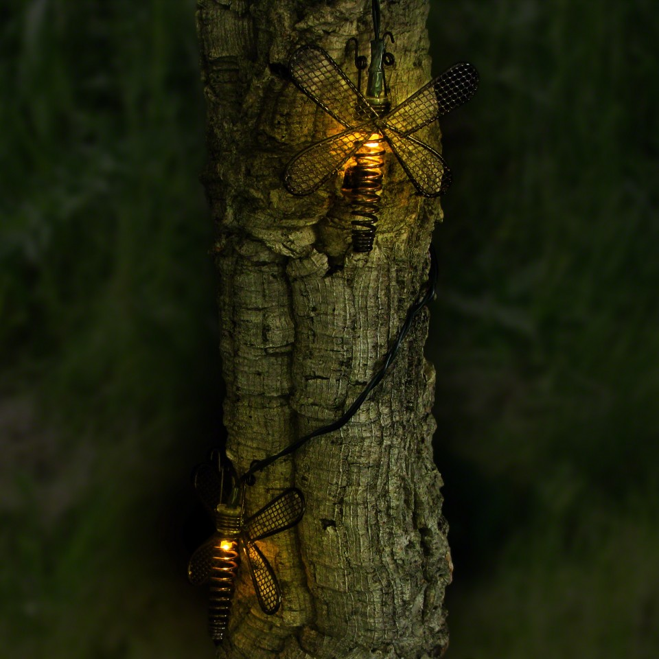 Solar Metal Dragonfly Lights